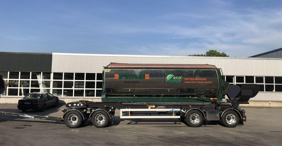 lastväxlarvagn med tipp 38 ton, lastväxlarsläp